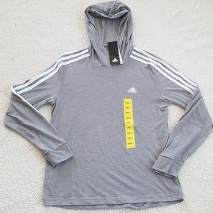 NWT Adidas Climalite Hoodie Grey Size: S